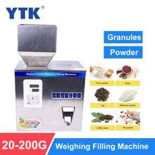 YTK máquina de llenado de polvos de gránulo, 200G, máquina de pesaje automático, máquina de envasado de Medlar para partículas de semillas de frijol de té