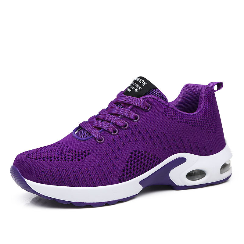 Cushioning Red Women Sneakers Mujer Running Shoes 2019 Professional Sports Shoes For Female Breathable Walking Trainers Purple