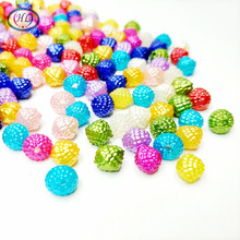 New Rushed Reflective Fabric Resin Artesanatos Hl 50pcs 7mm Diy Crafts Abs Loose Beads Mix Colors For Jewelry Accessories