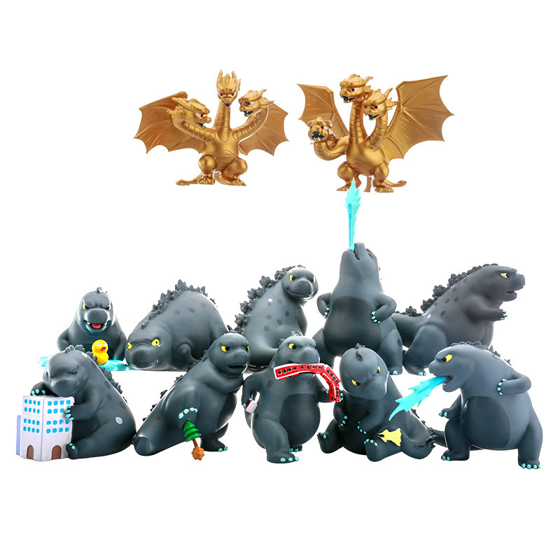 1 PC Original Godzilla Monster pvc action figures toys model dolls Christmas gifts for child 8CM With Box Random Send