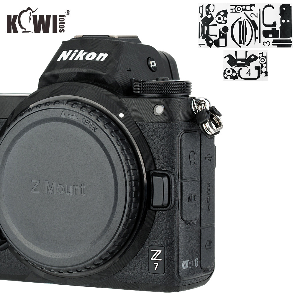 Anti-Scratch Camera Body Cover 3M Sticker Protector For Nikon Z7 Z6 Anti-Slide Grip Holder Skin Guard Shield Shadow Black