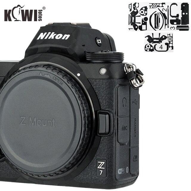 Anti rayures caméra corps couverture 3M autocollant protecteur pour Nikon Z7 Z6 anti dérapant support de prise en main peau garde bouclier ombre noir