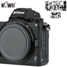 Cubierta de Cuerpo de Cámara antiarañazos, etiqueta de protección 3M para Nikon Z7 Z6, soporte de agarre antideslizante, Protector de piel, sombra, negro
