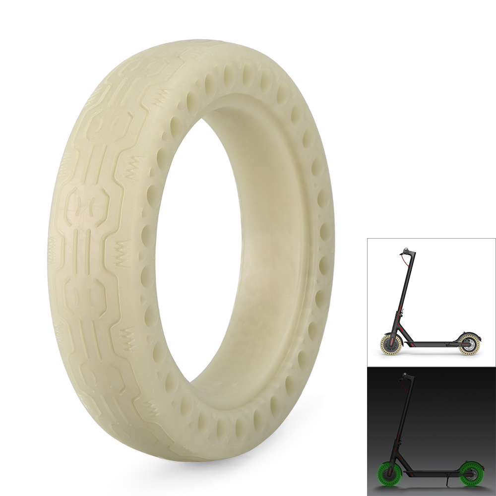 Luminous Solid Tire Explosion-proof Front Rear Tyre For Xiaomi M365 Electric Scooter Rubber Tire Sports