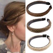S-noilite sintético tranças de cabelo feminino cabeça banda meninas antiderrapante torção hairband headwear ajustável estiramento acessórios de cabelo