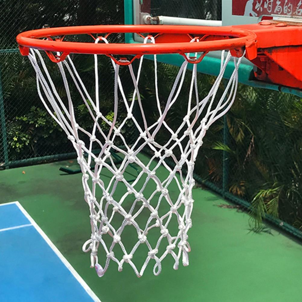 Sports Basketball Hoop Ring Nylon Net Outdoor Backboard Goal Rim Lengthened Mesh Replacement Nylon Basketball Rim