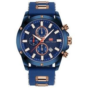 Image 3 - Minifocus moda masculina esporte relógios homem quartzo relógio analógico pulseira de silicone militar à prova dmilitary água relógio relogio masculino