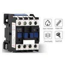CJX2-1810 1801 LC1 AC Contactor 18A 3Phase NO Coil Voltage 380V 220V 110V 36V 24V 50/60Hz Din Rail Mounted 1NO Normal Open