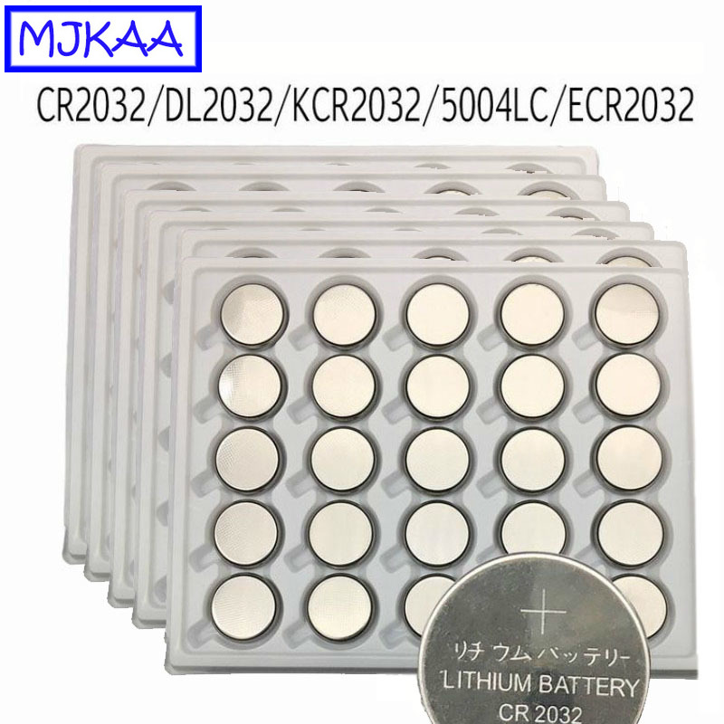 150pcs CR2032 3V Lithium Button Battery BR2032 DL2032 ECR2032 CR 2032 Long Lasting Coin Cell Batteries For Watch Toy
