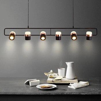 Iluminación LED de araña moderna, luces colgantes simples blancas/negras de arte para restaurante, cafetería o Bar, lámpara colgante nórdica de Isla de comedor