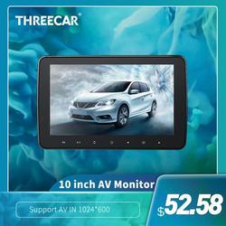 Threecar Новые 10 дюймов HD монитор TFT Цифровая Экран AV Вход Авто ЖК-дисплей Дисплей автомобильный монитор для автомобиля Радио пульт плеера
