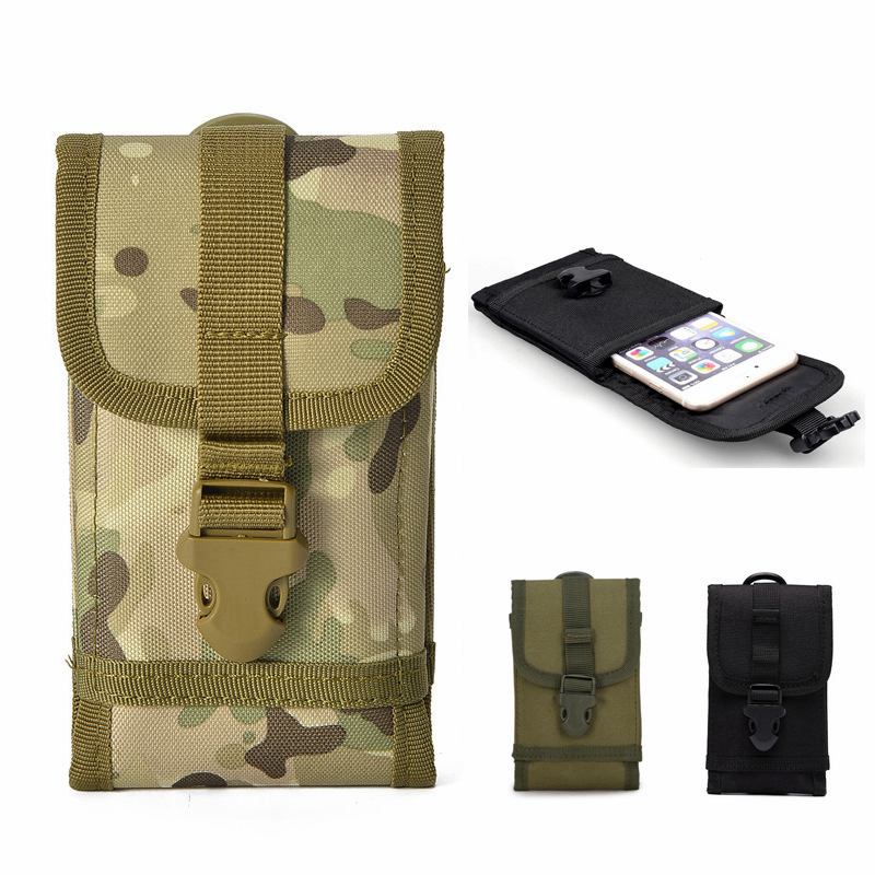 600D Nylon Tactical Backpack Molle Phone Belt Pouch Phone Cases Outdoor Camouflage Hiking Hunting Camping Waist Bag