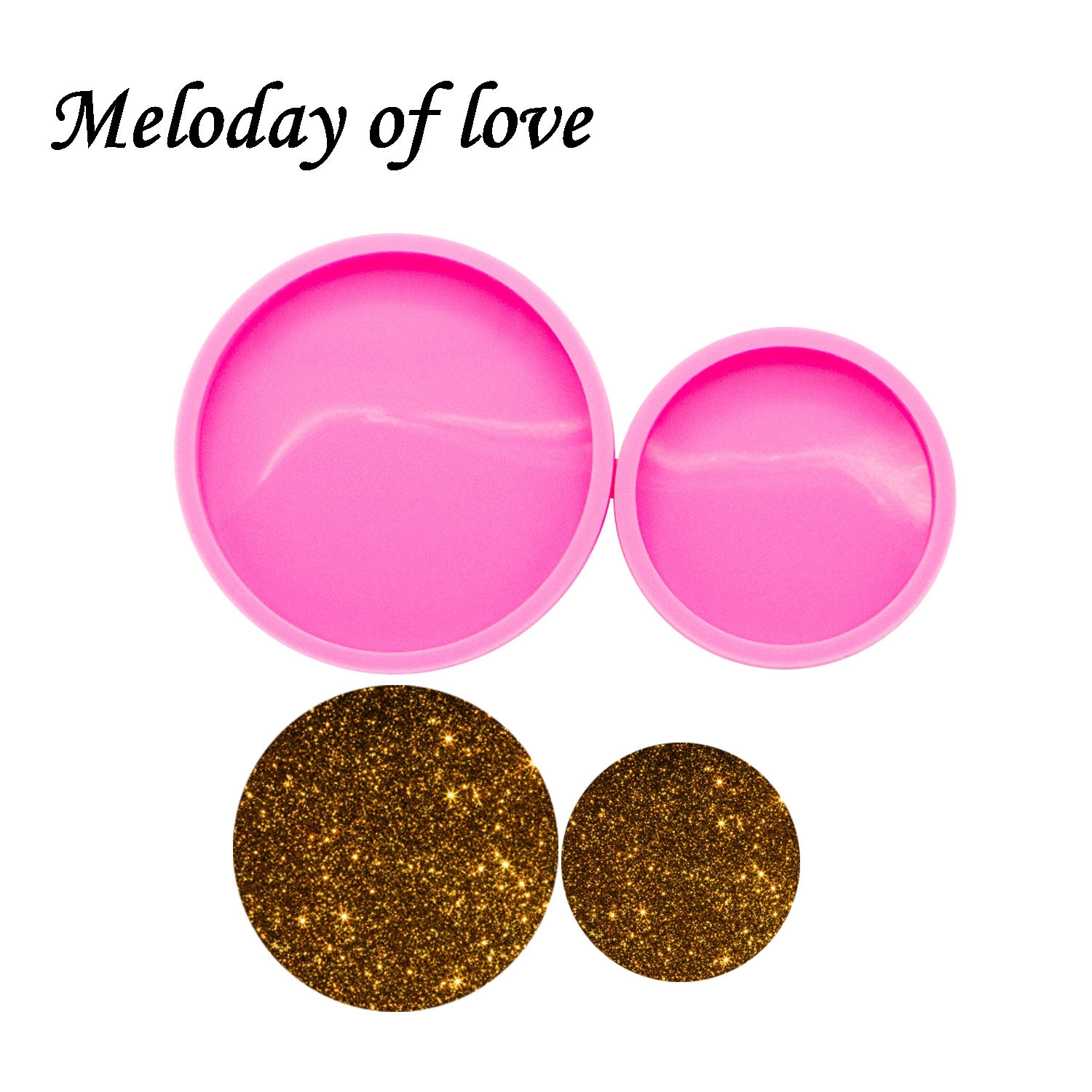 Shiny Glossy 2.3/3 Inches Round Epoxy Resin Molds Circle Coaster Silicone Mold Diy Making Geode Coasters Custom Mould DY0270