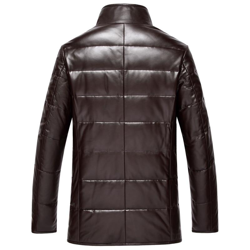 Men's Down Jacket Genuine Leather Jacket Men Winter Real Sheepskin Coat Mink Fur Collar Veste Cuir Homme DK075 KJ2136