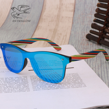 2019 Wooden Vintage Colorful Shades Handmade   Sunglasses Me