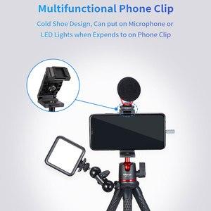 Image 3 - 울란지 MT 11 휴대용 낙지 삼각대 2 in 1 Foldable Phone Clip 콜드 슈 마운트 클램프 홀더가있는 매직 암 퀵 릴리스 플레이트