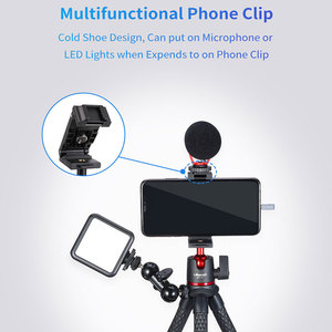Image 3 - Ulanzi MT 11 Portable Octopus Tripod 2 in 1 Foldable Phone Clip Magic Arm Quick Release Plate With Cold Shoe Mount Clamp Holder