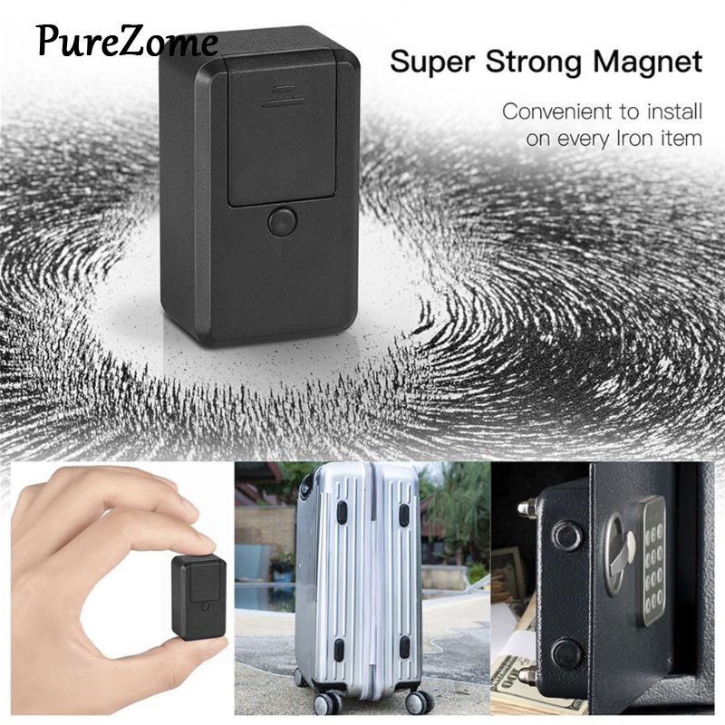 GF-19 Mini Portable GPS Car Vehicle Magnetic Tracer Free Installation GPS Tracking Locator Personal Tracking Object Anti Lost De