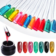 Zation Nail Art Supplies Nail Polish Jelly Glass GelLak Clear Soak Off UV LED Jelly Glass Candy Gel NailPolish Translucent Color(China)