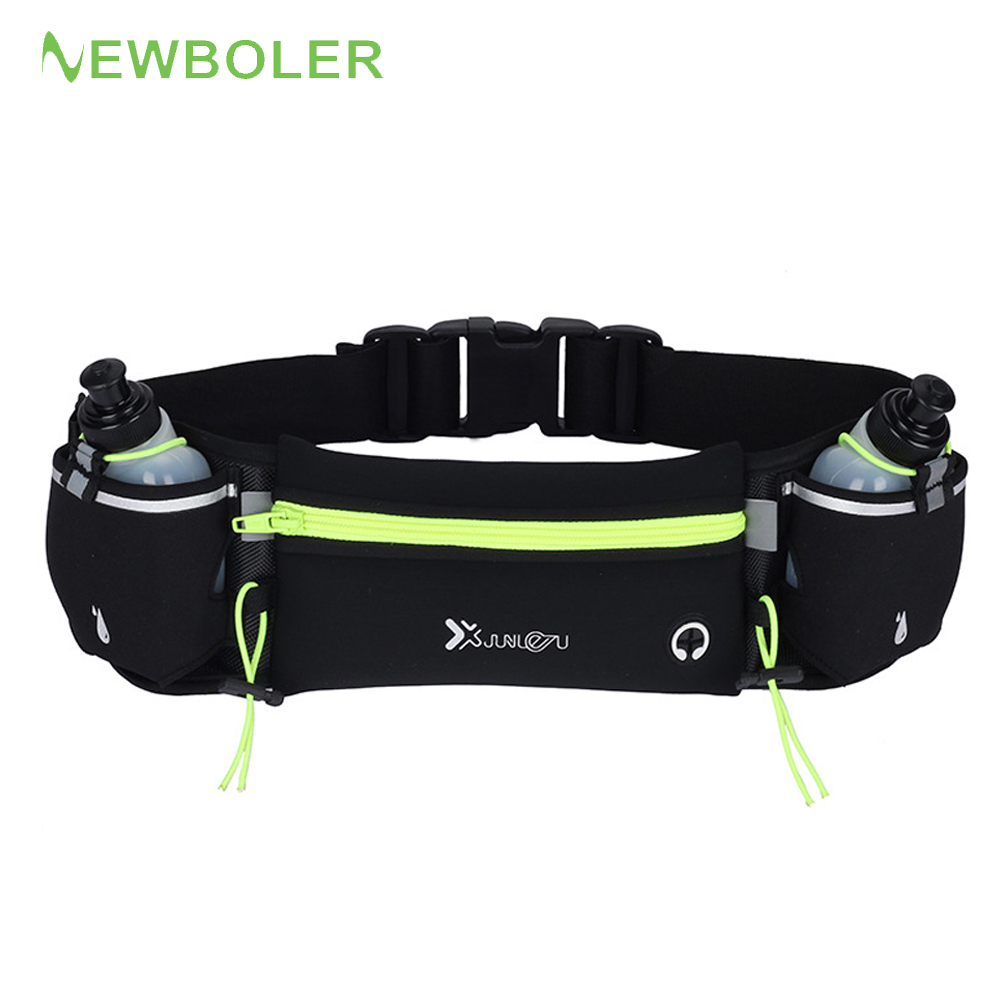 Marathon Dual Pocket Running Bag Trail Running Waist Belt  For Phone Sports Fanny Pack Man/Woman Fitness Waist Pack Water Bottle