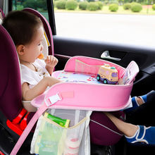 Universal Multifunctional Cartoon Car Safety Seat Tray Waterproof Stroller Holder Portable Kids Toy Food Drink Baby Seat Table(China)
