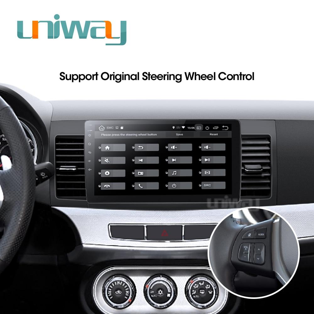 Image 5 - Uniway PX30 DSP YS301 car dvd for Mitsubishi Lancer 10.1 inch 2008 2009 2010 2011 2012 2013 2014 2015 car stereo navigatorCar Multimedia Player   -
