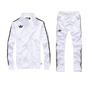 Мужской полный спортивный костюм для прогулок, спортивный костюм с топом и брюками, верхняя одежда