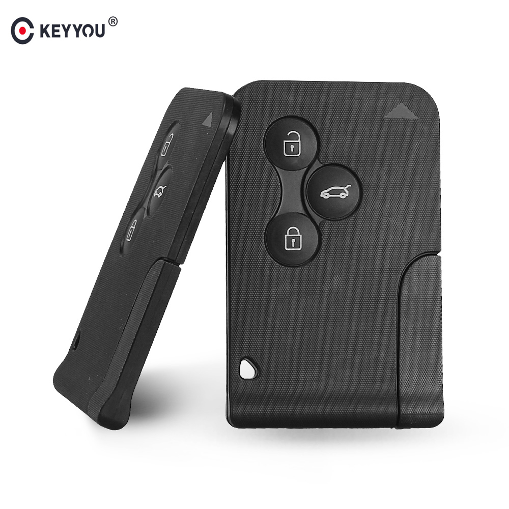 KEYYOU 3 Button 433Mhz ID46 PCF7947 Chip with Emergency Insert Blade Smart <font><b>Remote</b></font> <font><b>Key</b></font> <font><b>For</b></font> <font><b>Renault</b></font> <font><b>Megane</b></font> Scenic 2003-2008 Card image