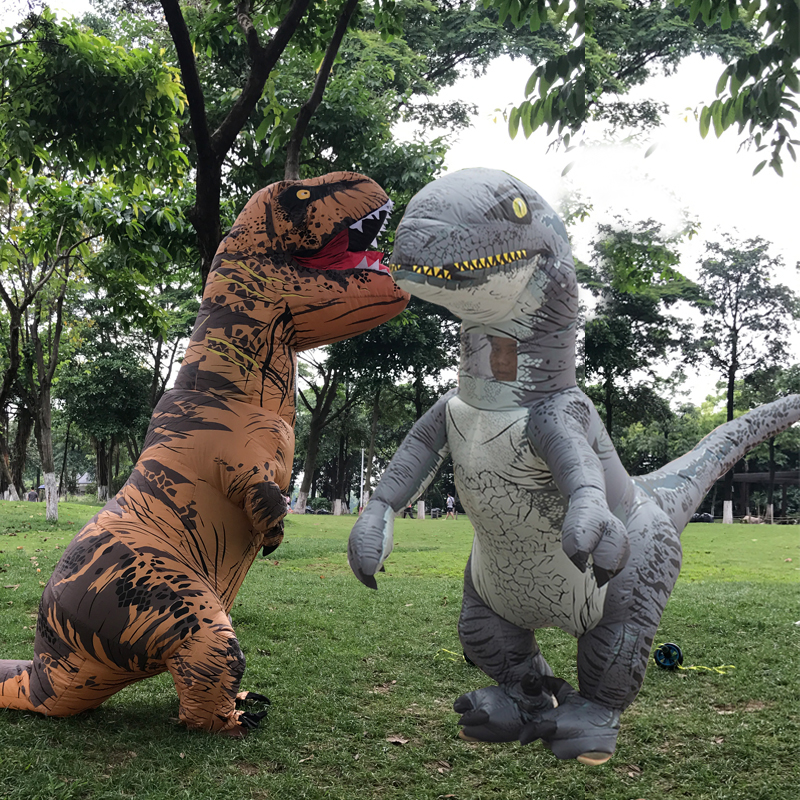 Inflatable T REX Dinosaur Costumes Blow Up Dinosaur Carnival Halloween Costume For Kids Adult Dino Cosplay Costume Mascot Party