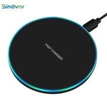 Sindvor 10W chargeur rapide sans fil pour Samsung S10 S20 S9 Note 10 USB Qi chargeur pour iPhone SE 11 XS XR X 8 Plus Airpods Pro