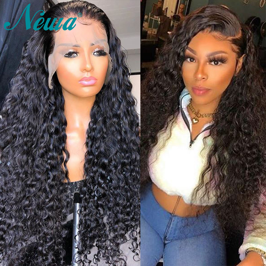 Curly Lace Front Human Hair Wigs 13x6 Glueless Remy Lace Front Wig Bleached Knots With Baby Hair Brazilan Newa Hair Lace Wigs