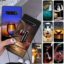Wine Glass Wine Luxury Unique Design Phone Cover For Samsung S8 S8 Plus S9 S9 Plus S10 S10 Plus S10E Lite S10-5G S20 UITRA Plus(China)