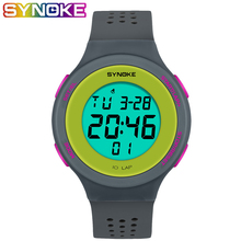 SYNOKE Ultrathin Unisex Electronic LED Digital Sports Waterproof Women Men