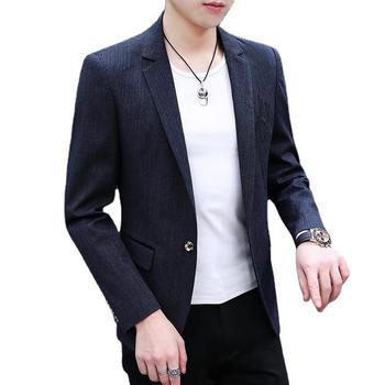 2020 Autumn Men's Wear Small Suit Coat Trend Leisure Personality Handsome Slim Fit Suit