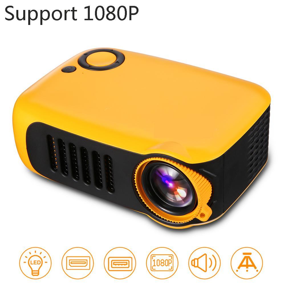 A2000 PK YG300 Mini projecteur Portable 1000 lume LCD 50000 heures lampe vie Home cinéma vidéoprojecteur Support 1080P batterie externe