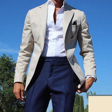 Suit Costume Blazer Tuxedo Prom-Jacket White-Pants Slim-Fit Smart-Terno Wedding Men New