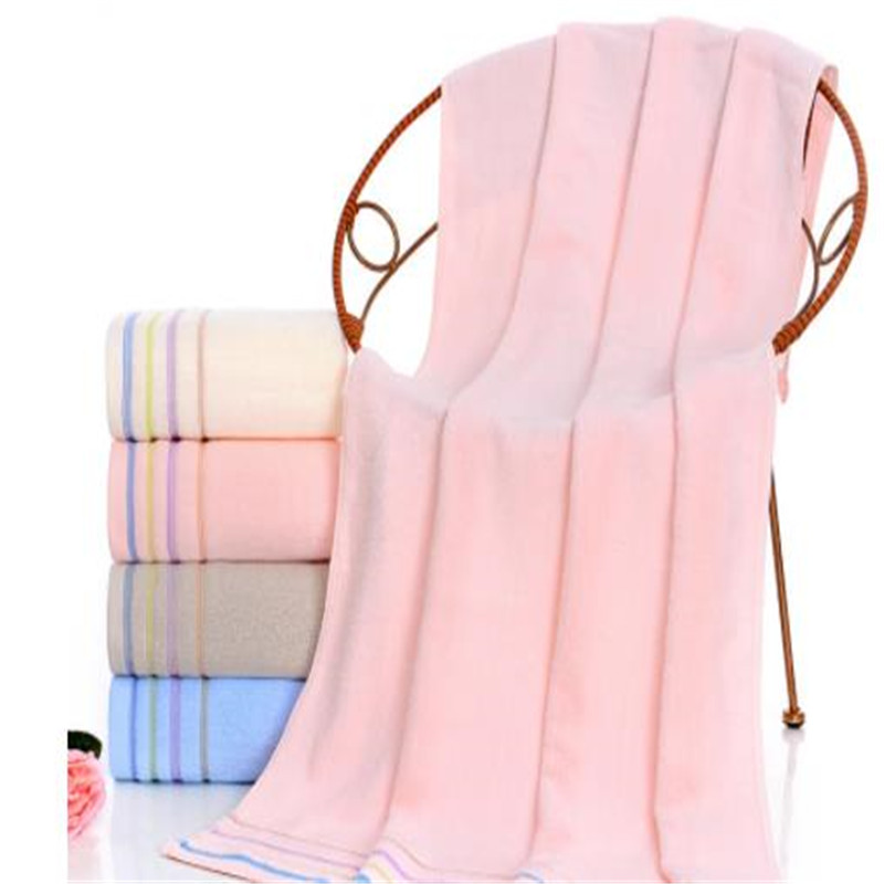Pure Cotton Towel 350 Grams Of Plain Discontinuity Jacquard Bibulous Wrapped Chest Big Towel Can Customize Logo 6007