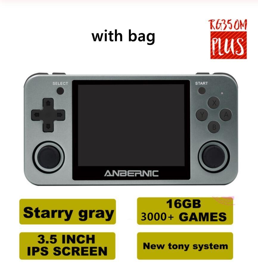Anbernic rg350m retro console de jogos de vídeo liga de alumínio 3.5 ips screen tela ips ps1 gb fc emuladores hd tv handheld presentes do jogador de jogo