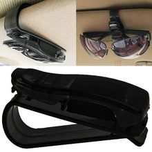 Venda quente acessórios do carro óculos de sol viseira óculos de sol caneta cartão abs portátil clipe titular bilhete suporte 1 peça