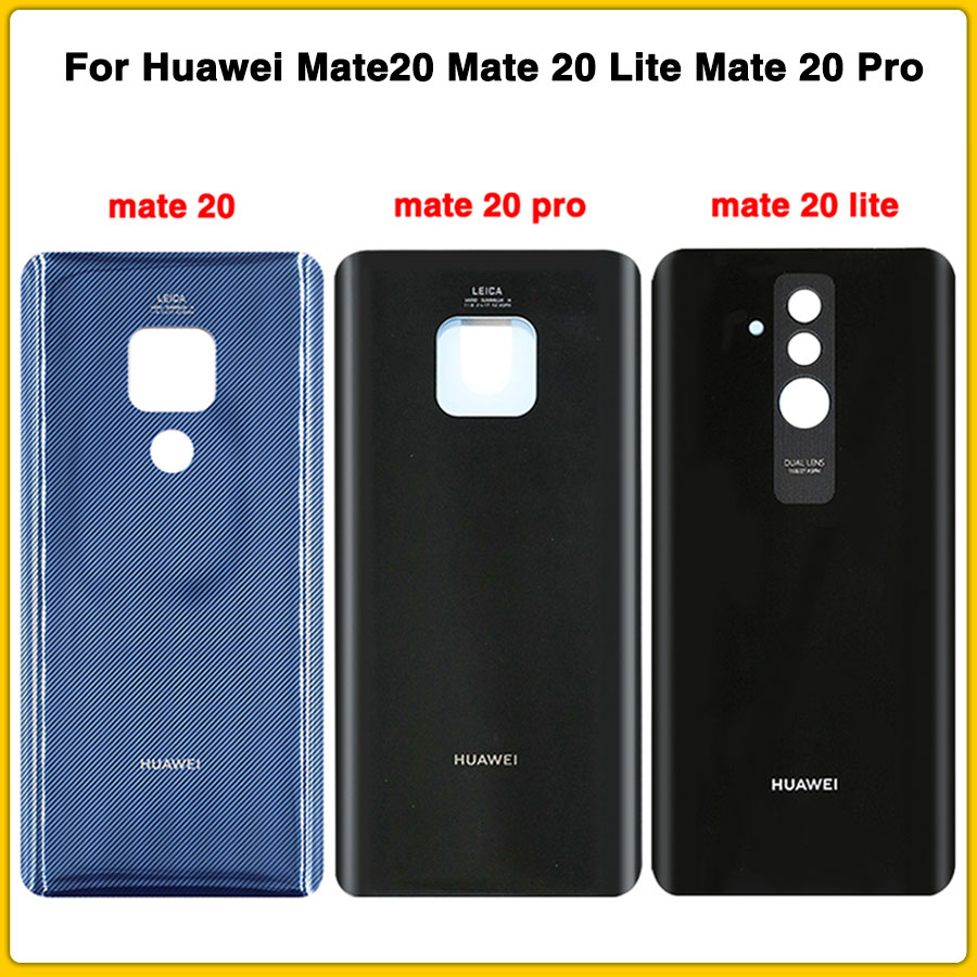 Original New Back Housing For Huawei Mate20 Mate 20 Lite Mate 20 Pro Battery Cover Door Rear Cover + Adhesive Sticker