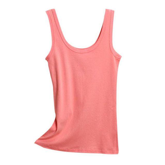 2019 Spring Summer Tank Tops Women Sleeveless Round Neck Loose T Shirt Ladies Vest Singlets Camisole Cotton Ladies Thin Vest 1 10