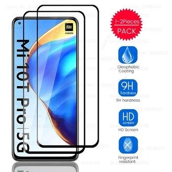 1/2 Uds vidrio templado para Xiaomi Mi10T Mi 10 T 10 T Pro Mi10TPro Xiaome Xiaomy Xiaomi10T pantalla Protector de pantalla táctil película Sklo