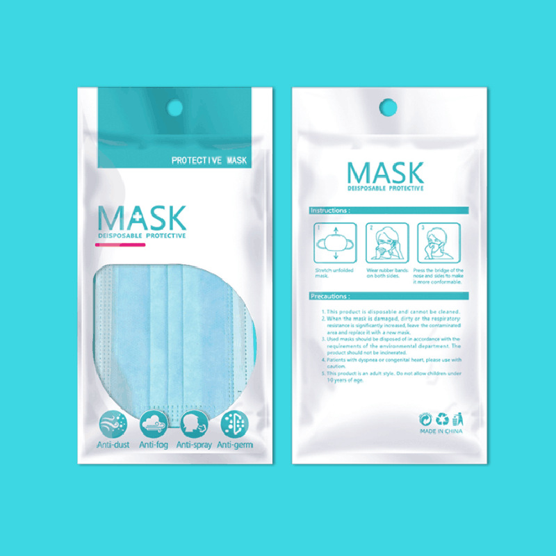3 Layers Disposable Protective Masks Health Care Mouth Face Mask Disposable Anti Dust PM2.5 Influenza Facial Masks