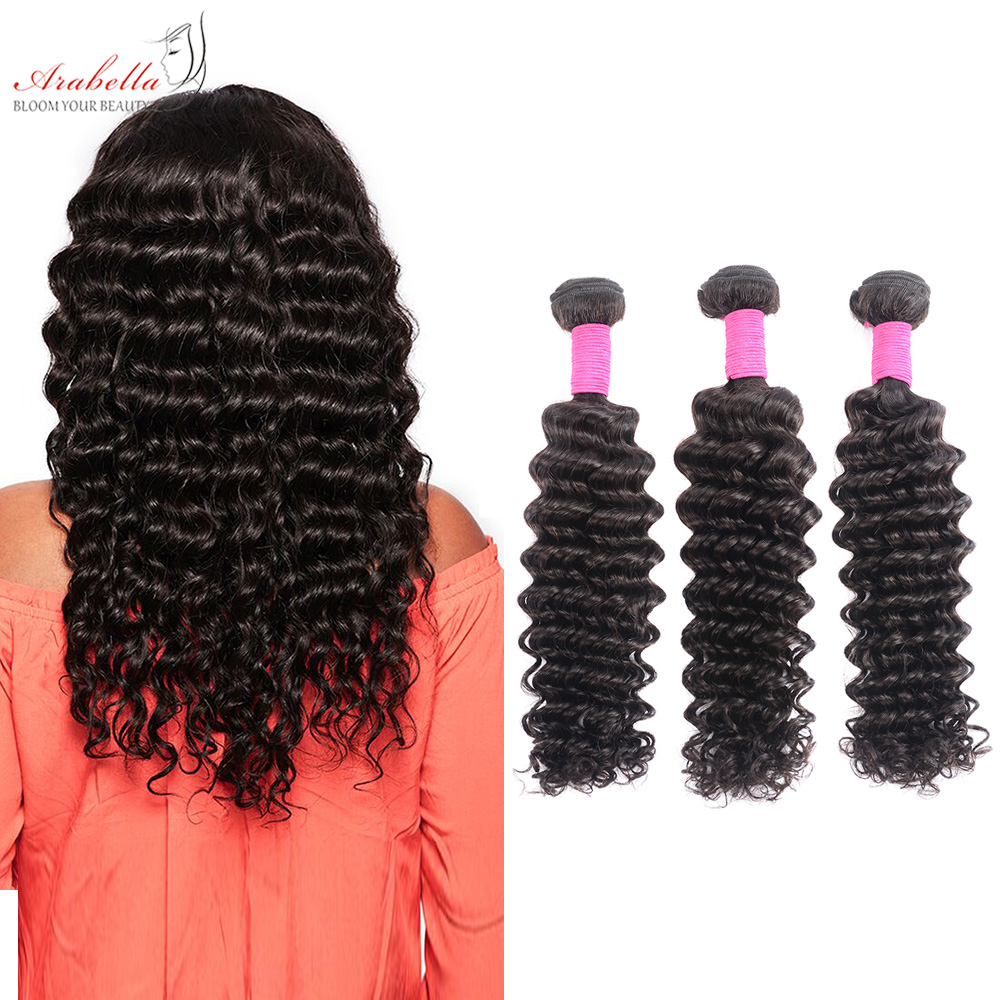 Deep Wave Hair Bundles 3 Pieces Natural Black Color Hair  Arabella  Hair  Bundles 2