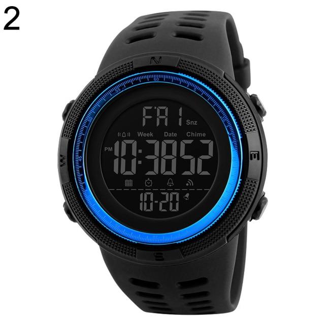 Couple Watches Men Fashion Outdoor Alarm Clock Digital Display Waterproof Calendar Sports Wrist Watch Silicone band relogio inte 3