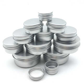 100Pcs Contenitore Cosmetico 5/10/15/20/30/50/60g Pentola di Alluminio vaso Con Coperchio Crema Per Gli Occhi Balsamo Per Capelli di Latta Vaso Vaso Cosmetico In Metallo