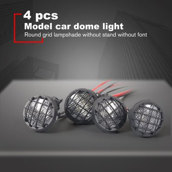 4PCS Set LED RC Roof Luggage LED Light Bar Kit Lamp Universal for 1/10 Traxxas Hsp Rc Crawler Accessory Rc Car Parts image