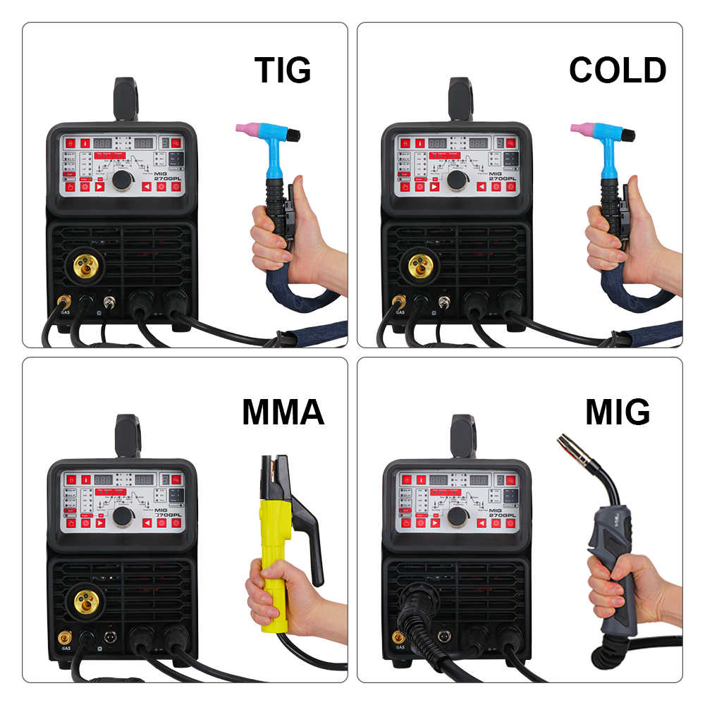 ANDELI SINGLE PHASE MIGเชื่อมเครื่องMIG-270TPLเครื่องเชื่อมMIG TIGเครื่องเชื่อมTIGเครื่องเชื่อมMIG TIG MMA PULSEเย็น 5 ใน 1