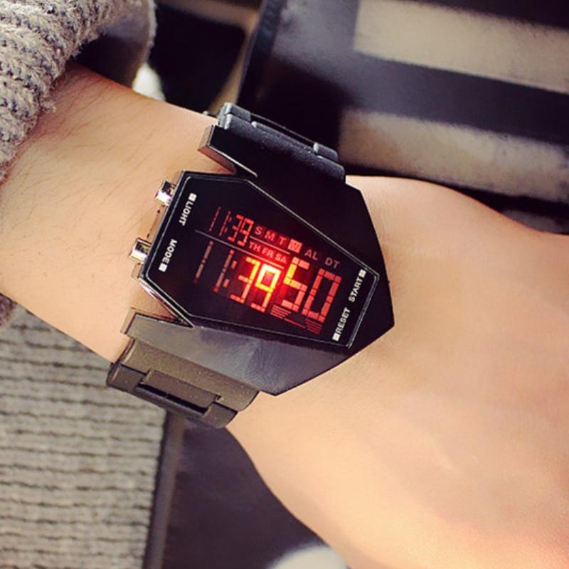 Digital Watch Clock Couple Electronic-Alarm Trend Men Women Fashion Luxury Sports LED