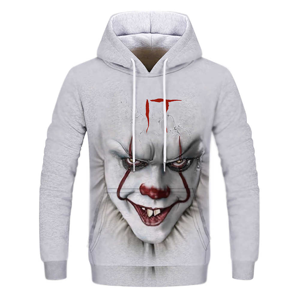 공포 영화 it clown 3d printed hoodies 남성 여성 freddy jason murderers 필름 풀오버 annabelle personality funny sweatshirts